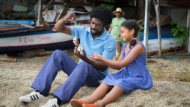 Djedje Apali et sa fille sur le film Le gang des Antillais