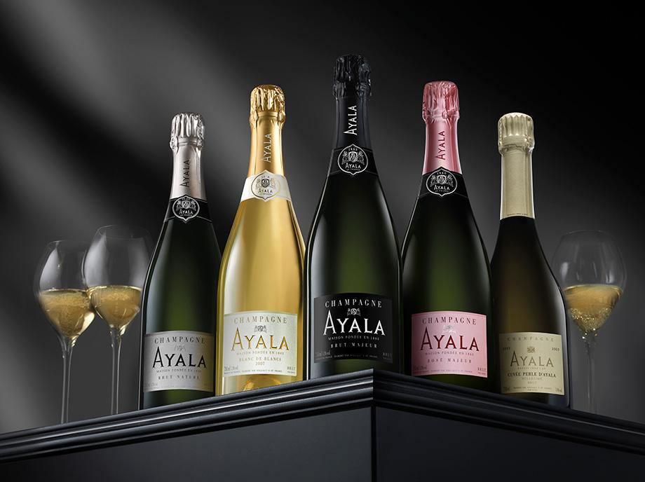 Retouche photo beauty shoot pour une marque de champagne