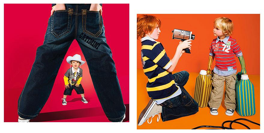 Réalisation des photomontages des images Catimini, Collection Été, 05