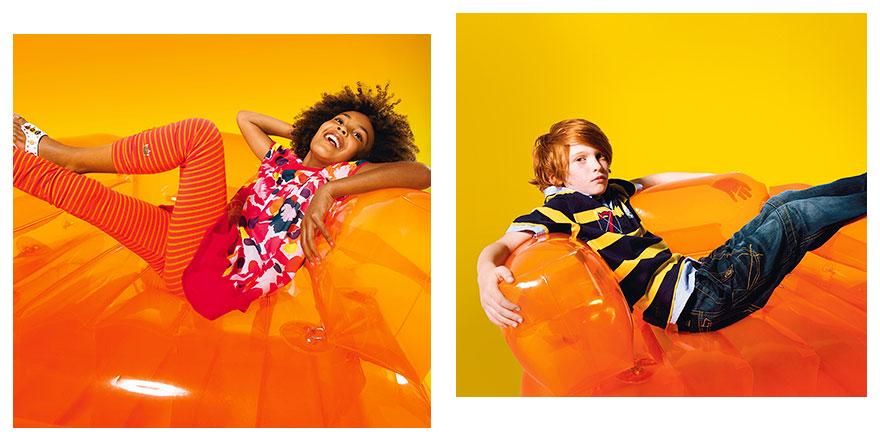 Réalisation des photomontages des images Catimini, Collection Été, 06