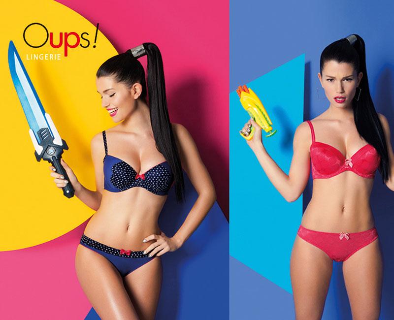 Creative retouching de la collection de lingerie française