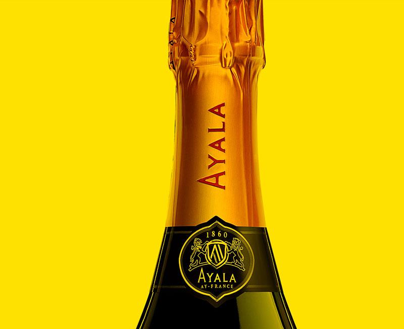 Retouche photo beauty shot champagne